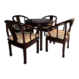 Rosewood Chairs & Bridge/ Card Table For Sale