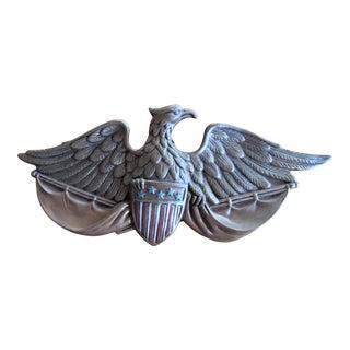 Vintage Ceramic Eagle Plaque For Sale