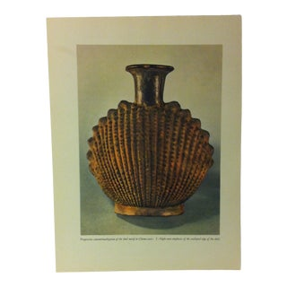 """1957 """"Progressive Conventionalization of the Shell Motif in Chimu Vases"""" the Influence of the Shell to Humankind Print For Sale"""