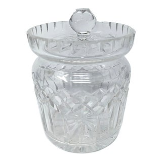 Mid 20th Century Cut Glass Candy/Biscuit Jar For Sale