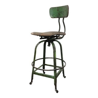 1930s Vintage Drafting Stool For Sale