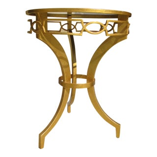 Worlds Away Gold Leaf End Table
