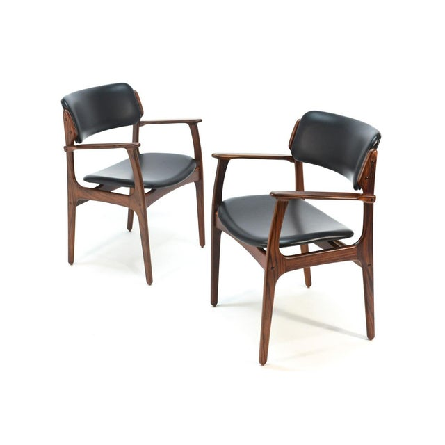 Erik Buck Model 49 Rosewood Dining Chairs - Set of 8 - Image 7 of 10