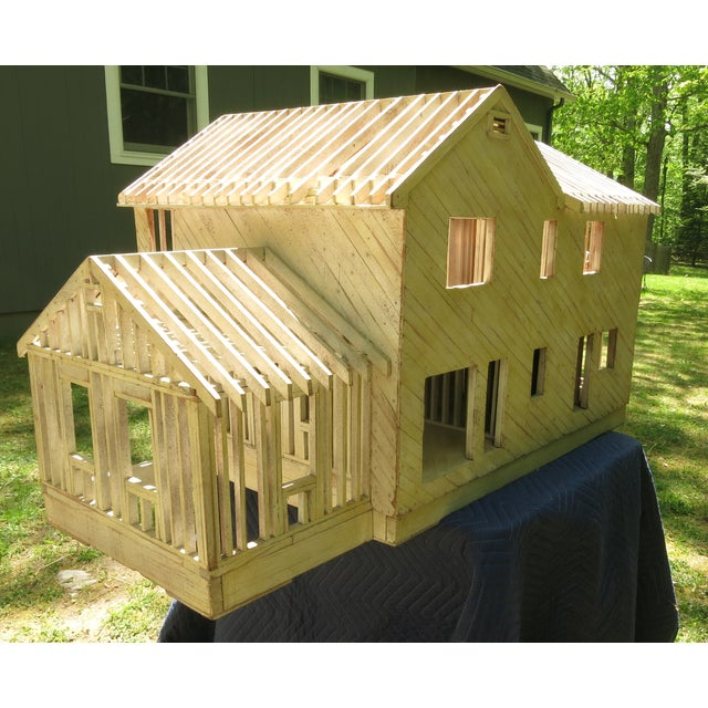 Vintage Architectural Model Wood House For Sale In New York - Image 6 of 11