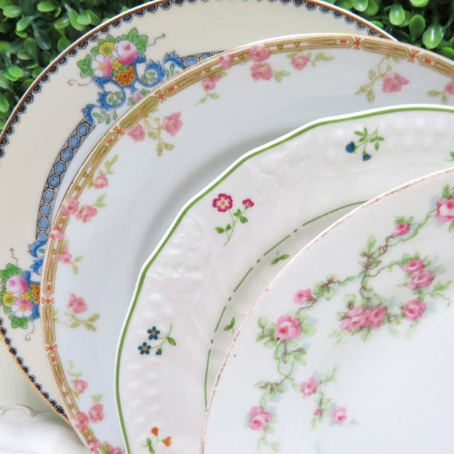There's something so enchanting about a mix of fine china - so much history and charm in each piece. This set's colors and...
