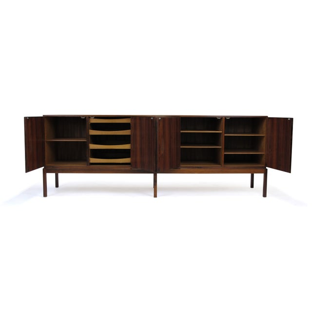 Mid-Century Johannes Andersen Rosewood Credenza For Sale In San Francisco - Image 6 of 7