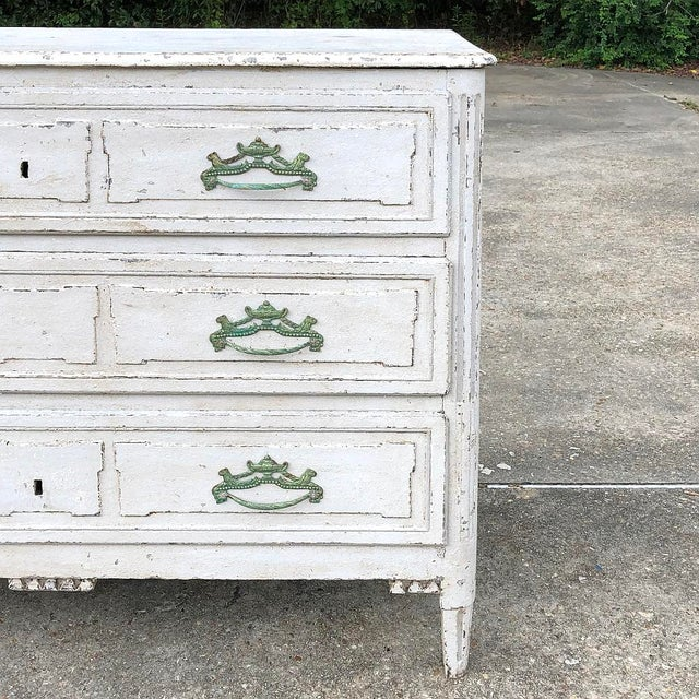 Metal 18th Century French Louis XVI Painted Commode For Sale - Image 7 of 12