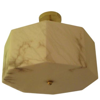 Eight-Sided Custom Alabaster Fixture For Sale
