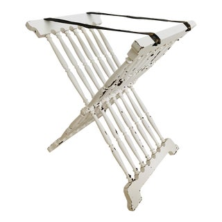 Vintage Spanish Foldable Rack Valet for Suitcase / Tray For Sale