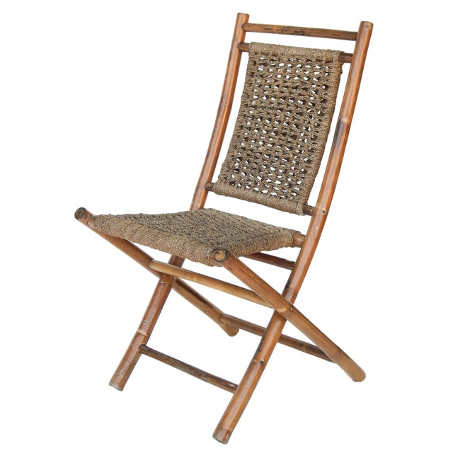 Bamboo Folding Bamboo Chairs For Sale - Image 7 of 11