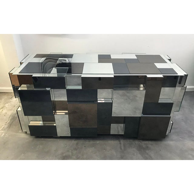 An absolutely stunning piece, this custom mirrored dining table base is sure to make a statement. Could also be used as a...