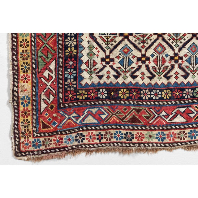 Textile Shirvan 19th Century Caucasian Rug - 3′11″ × 5′6″ For Sale - Image 7 of 9