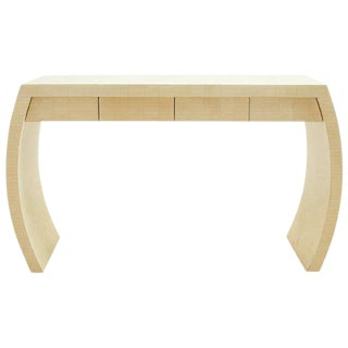 Enrique Garcel Tessellated Bone Waterfall Desk Console For Sale
