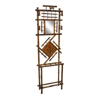 Antique Victorian Bamboo Hall Stand For Sale