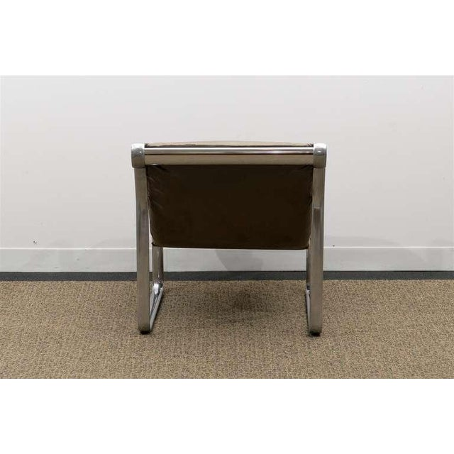 Rare Pair of Aluminum Lounge/Club Chairs by Hannah/Morrison for Knoll For Sale In Atlanta - Image 6 of 11