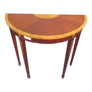 Federal Mahogany Demi-Lune Hall Table For Sale