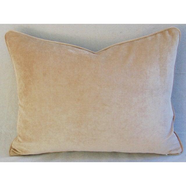 """Safari Zebra Linen & Velvet Feather/Down Pillows 24"""" X 18"""" - Pair For Sale - Image 10 of 13"""