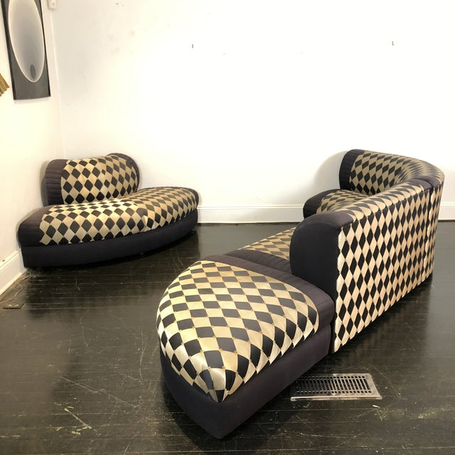 1980s Vladimir Kagan Curved 5 Piece Sofa for Weiman For Sale - Image 10 of 13