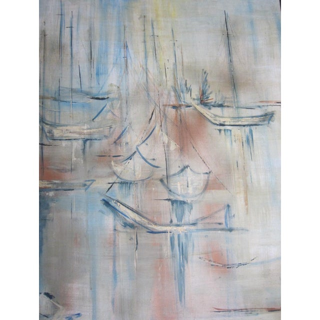 Mid-Century Abstract Nautical Painting - Image 4 of 6