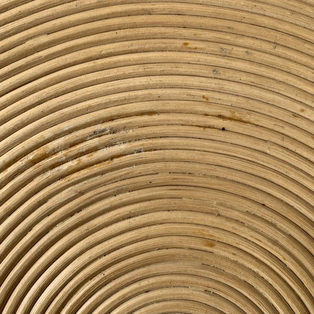 1970s Rattan Split Reed Magazine Rack Side Table For Sale - Image 10 of 12
