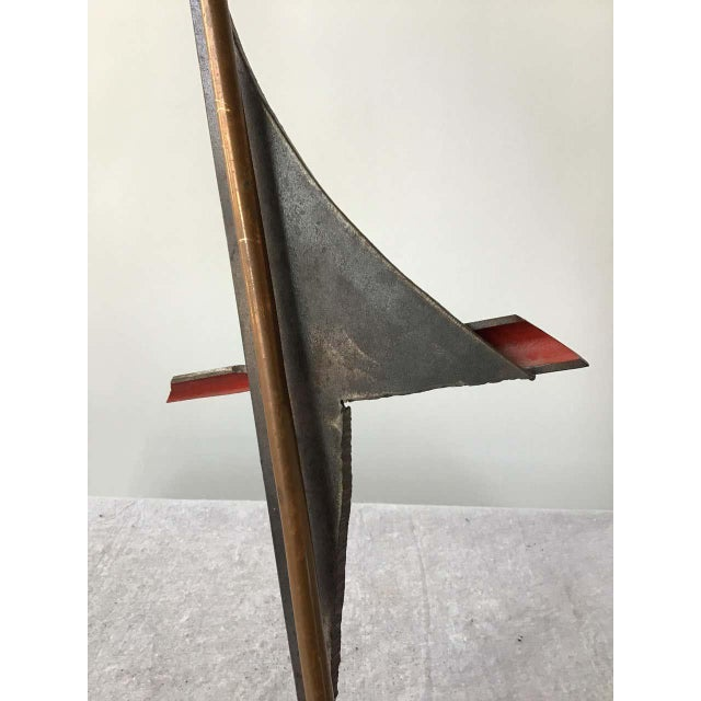 Metal 1980s Industrialist Iron and Copper Sculpture Signed Bob Lober For Sale - Image 7 of 11