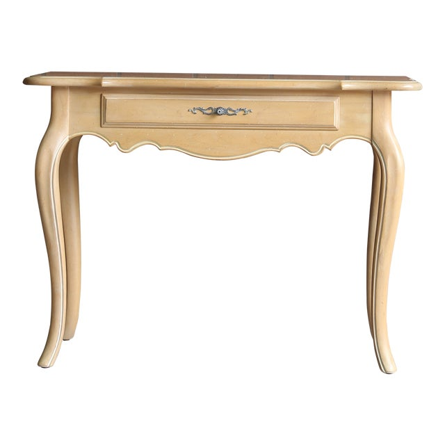 1990s French Country Ethan Allen Console For Sale