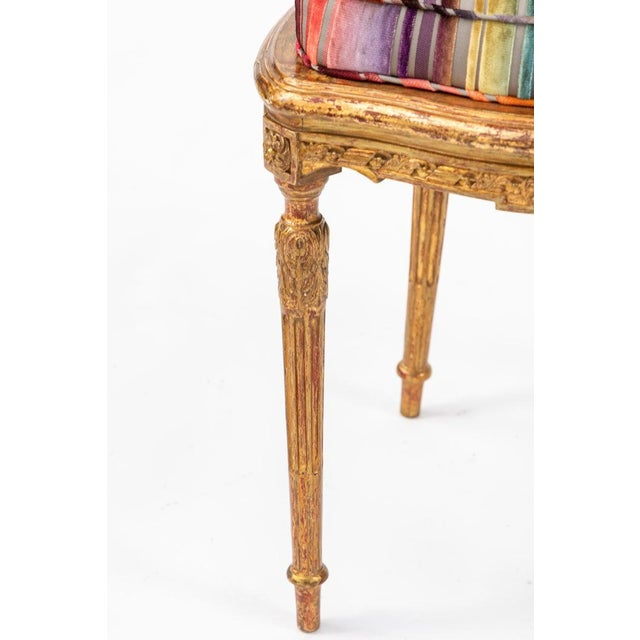Late 19th Century 19th C. French Giltwood Side Chair With Donghia Stripped Silk Velvet For Sale - Image 5 of 10