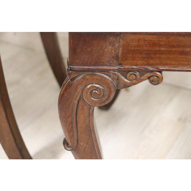 Green 19th Century Italian Carved Mahogany Charles X Six Chairs For Sale - Image 8 of 13