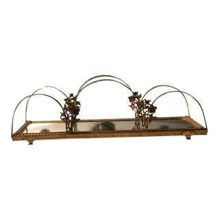 Antique Mirrored Vanity Tray For Sale