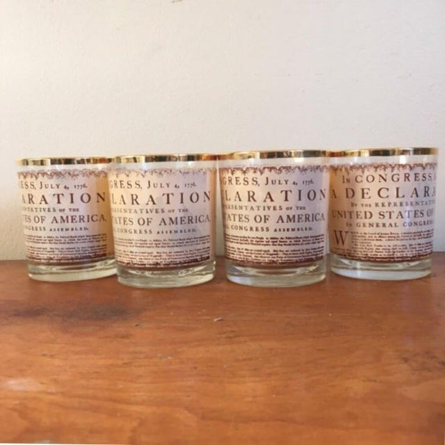 Americana 1976 Vintage Bicentennial Glasses - Set of 4 For Sale - Image 3 of 6