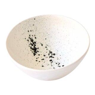 "Contemporary Handmade White ""Splatter"" Soup/Ramen Bowl by FisheyeCeramics For Sale"