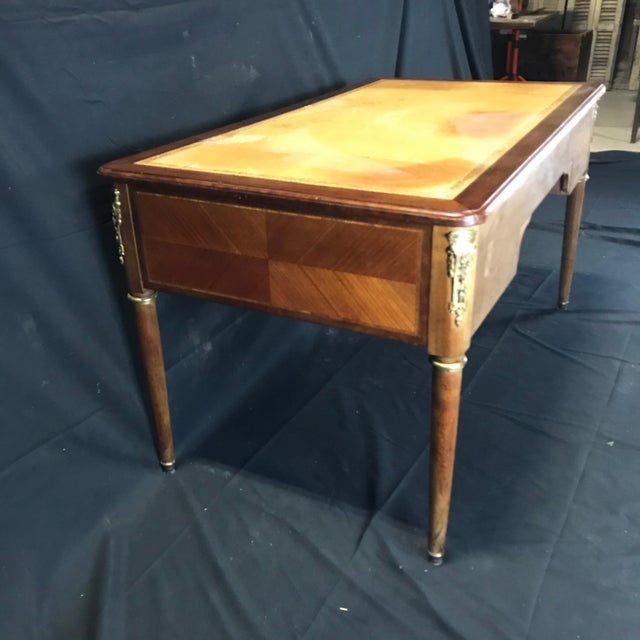 19th Century French Walnut Louis XVI Desk For Sale - Image 10 of 13