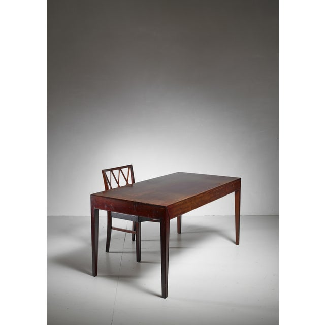 1960s Severin Hansen Desk with Matching Chair for Haslev, Denmark, 1960s For Sale - Image 5 of 6