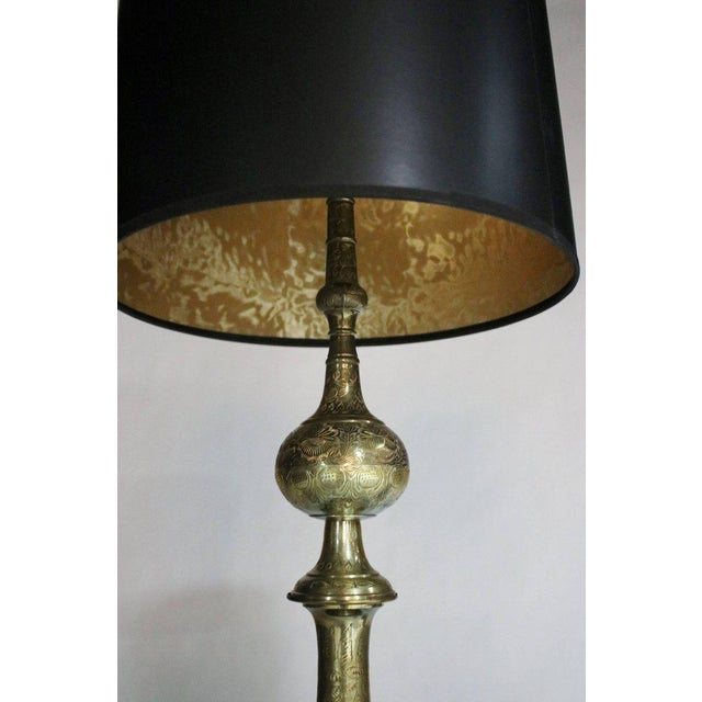Brass Pair of James Mont Style Lamps For Sale - Image 7 of 8