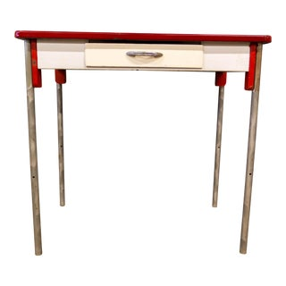 Vintage Enamel Top Desk