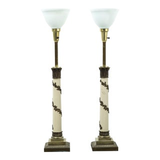 Set of Hollywood Regency Stiffel Lamps