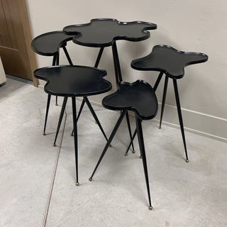 1990s Modern Black Italian Side Tables - Set of 5 Preview