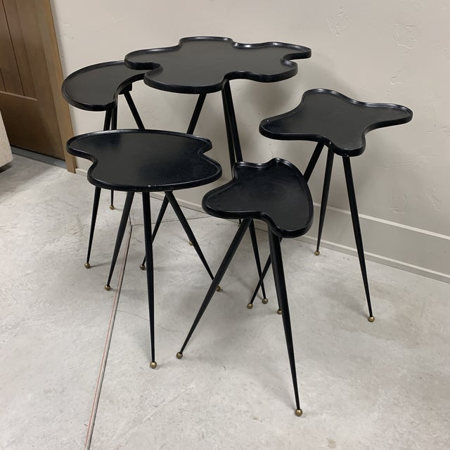 5 Italian side tables. Like new condition. Few chipped paint areas on each table. Great condition.