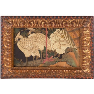 19th Century Chinese School, 'White Cranes Among Magnolia', Circa 1880 For Sale