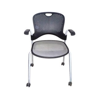 Herman Miller Black Stacking Office Chair For Sale