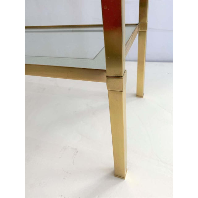 Mastercraft Style Brass Console Table For Sale In West Palm - Image 6 of 13