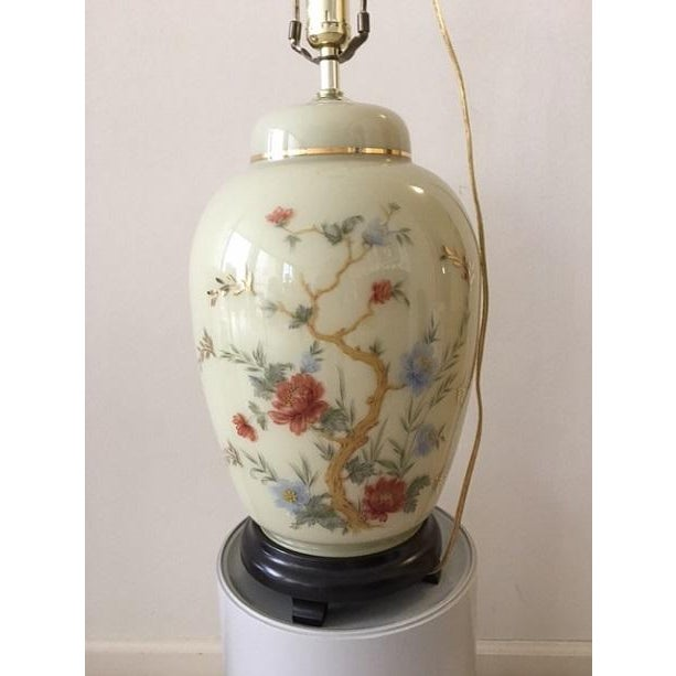 Asian Branch & Floral Table Lamp - Image 3 of 3