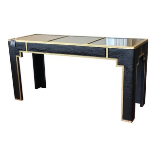 Black and Gold Console Table For Sale