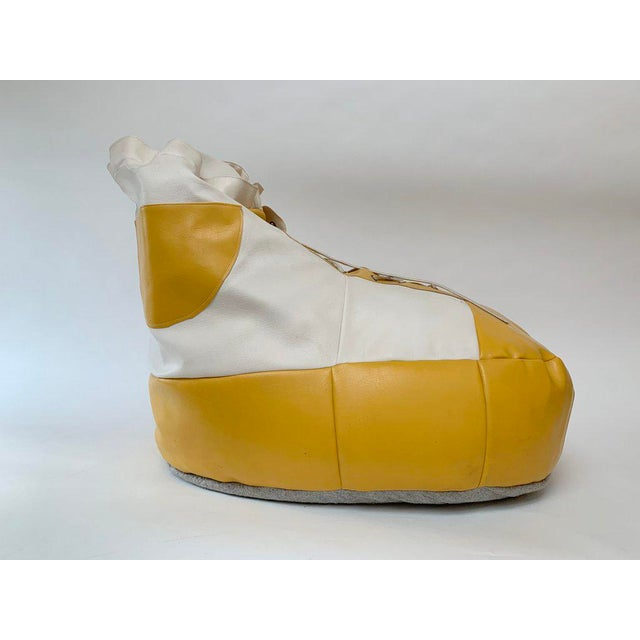 1970s 1970s White and Yellow De Sede Sneaker Bean Bag Chair or Ottoman For Sale - Image 5 of 12