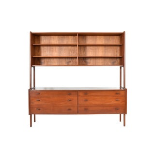 Danish Modern Teak Floating Top Credenza by Hans Wegner for Ry Møbler