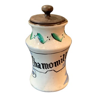 Small Chamomilla Apothecary Jar For Sale
