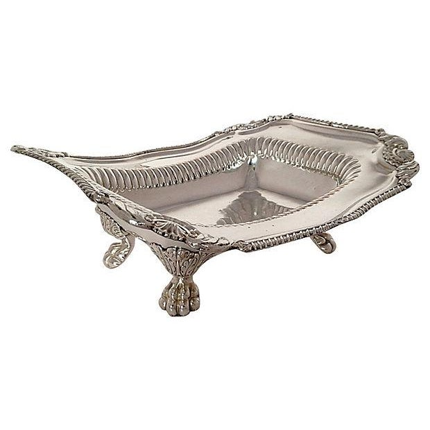 Silver-Plated Lion Footed Catchall - Image 1 of 7