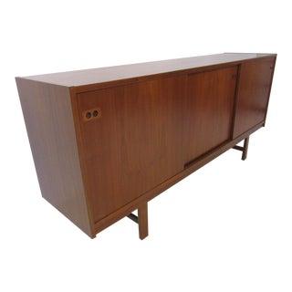 Danish Mid-Century Modern Teak Wood Credenza For Sale
