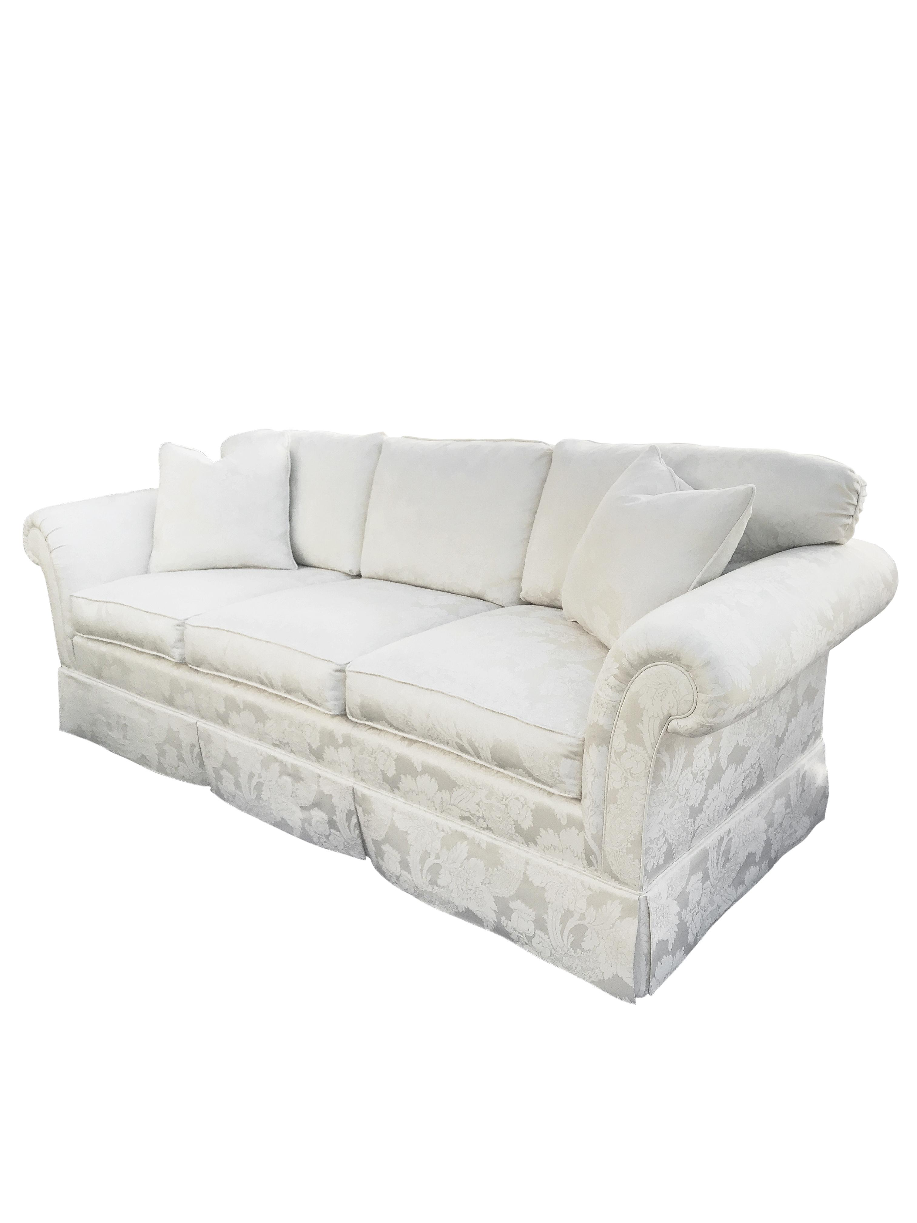 Kindel Furniture Ivory Feather Down Floral Chinoiserie Sofa   Image 2 Of 10