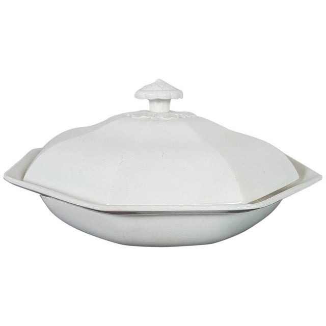 Ceramic 20th Century Italian Neoclassic Style White Ceramic Soup Tureen, 1920s For Sale - Image 7 of 7